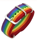 Adjustable rainbow bracelet with buckle