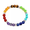 Multi colored glass bead chakra bracelet