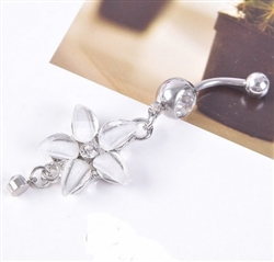 Flower belly ring