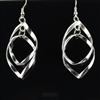 Silver twist earrings