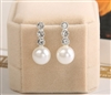 Rhinestone and pearl earrings