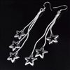 Silver earrings with stars