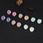 Set of 6 glitter post earrings