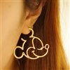 Gold mouse earrings