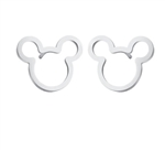 Silver mouse earrings