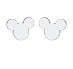 Tiny silver mouse earrings