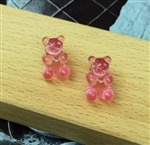 acrylic gummy bear earrings