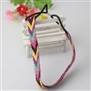 Multi colored woven headband