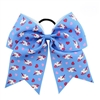 Giant blue bow with unicorns