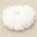 Super soft faux rabbit fur hair scrunchie