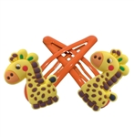 Set of 2 snap clip barrettes