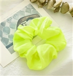 Neon yellow hair scrunchie