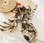 animal print hair scrunchie