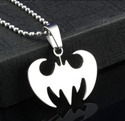Silver batman pendant necklace