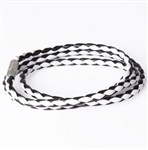 Black and white cord bracelet