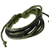Dark green and black cord bracelet