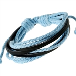Blue and black cord bracelet
