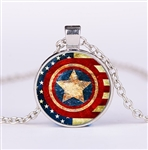 Captain America pendant necklace