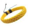 Braided yellow leather bracelet