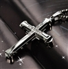 Stainless steel silver cross pendant necklace