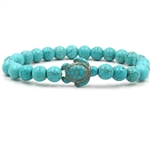 Blue beaded turtle bracelet