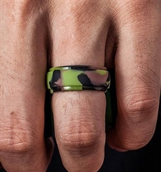 Army print silicone ring