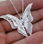 Silver butterfly pendant (chain not included)