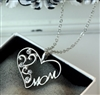 "Silver ""mom"" pendant necklace"