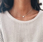 Silver heart necklace