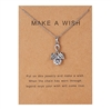 "Silver ""make a wish"" pendant necklace"