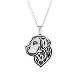Silver labrador pendant necklace