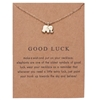 "Gold ""Good luck"" elephant pendant necklace"