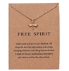 "Gold ""Free spirit"" dragonfly pendant necklace"