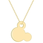 Gold mouse pendant necklace