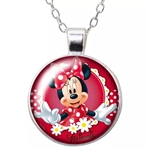 Minnie with daisies pendant necklace