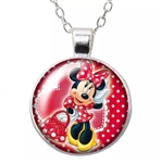 Minnie with purse pendant necklace