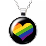 Pride heart penant necklace