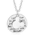 "Disney quote ""Laughter is timeless"" pendant necklace"