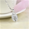 Silver religious pendant necklace