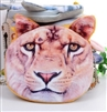 Giant lion face coin purse/wallet