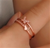Rose gold butterfly ring - size 7