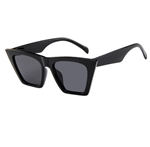 Black pointed sunglasses with black lens