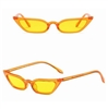Clear yellow cat eye sunglasses