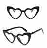Black heart sunglasses with clear lens