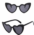 Black heart sunglasses with black lens