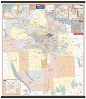 Syracuse and Onodaga County, NY Wall Map