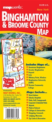 Binghamton, NY & Broome County Map