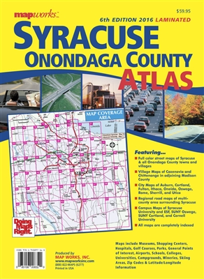 2016 LAMINATED EDITION Syracuse, NY & Onondaga County Atlas