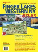 ** SALE ** LAMINATED FINGER LAKES & WESTERN NY ATLAS