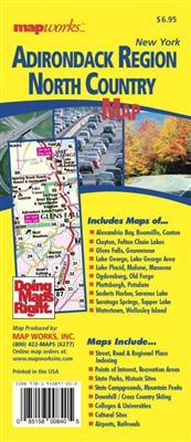 Adirondack Region & North Country, NY Map 2016